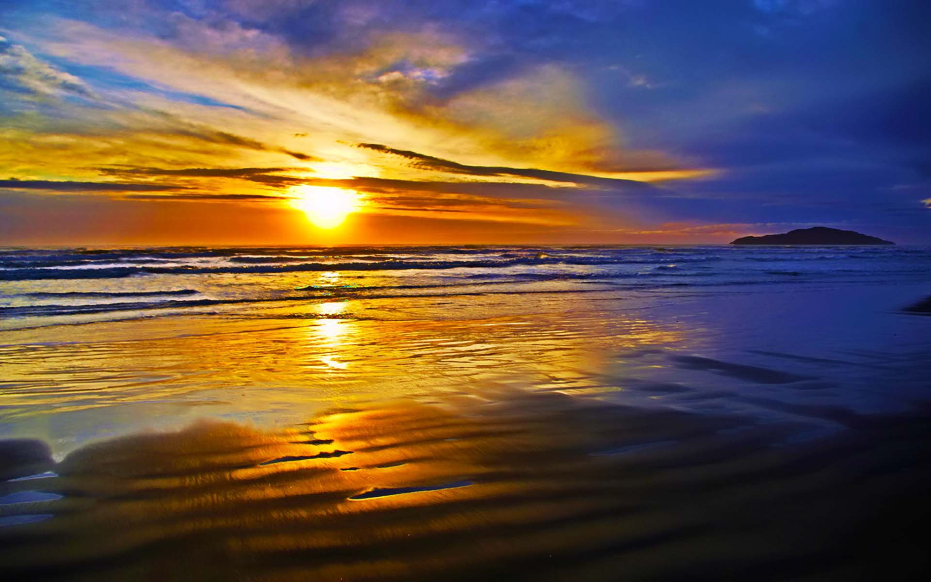 ocean sunset wallpapers images photos pictures backgrounds