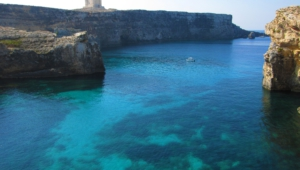 Sea Cave Malta Widescreen