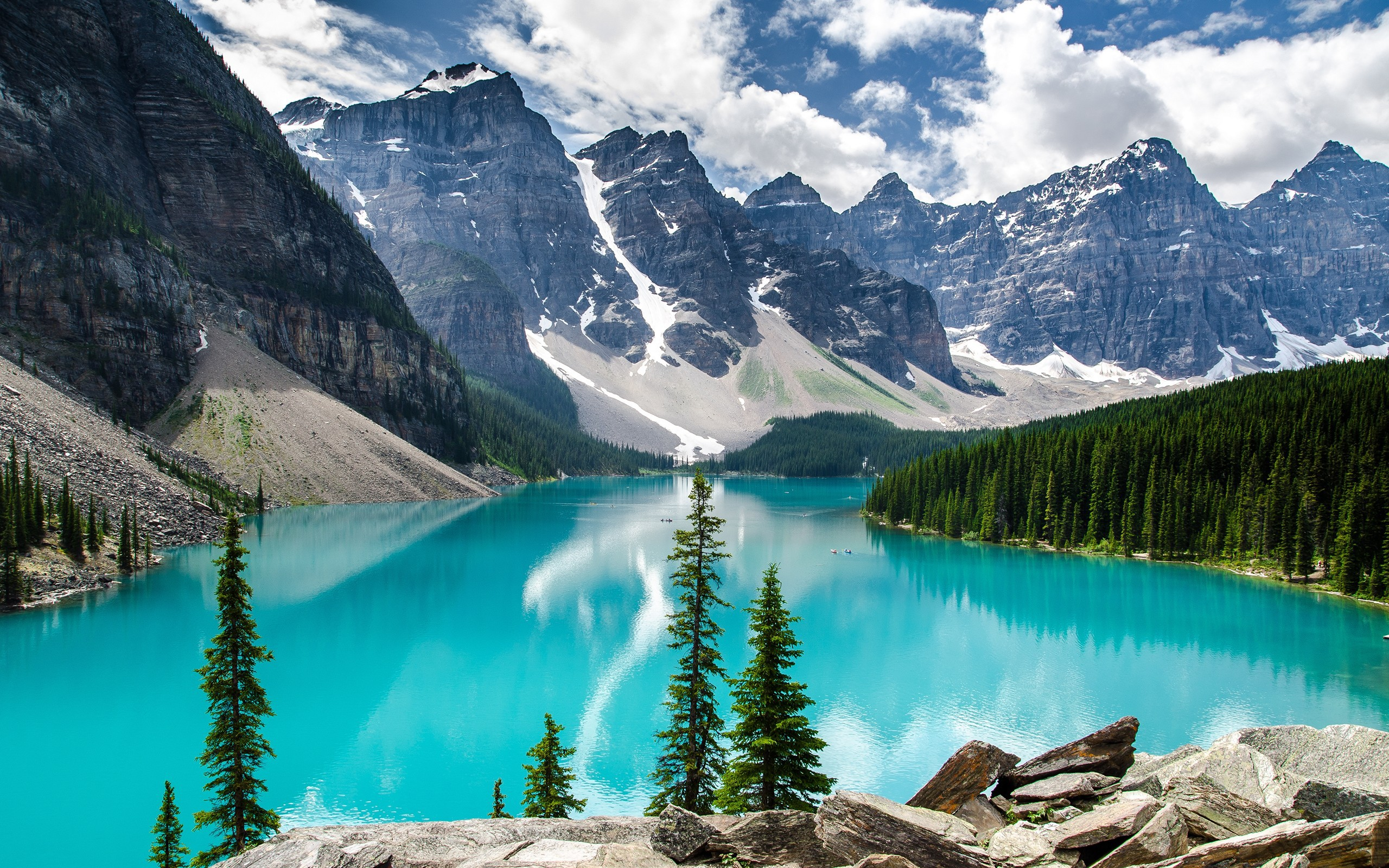 Glacier Lake Moiraine High Quality Wallpapers